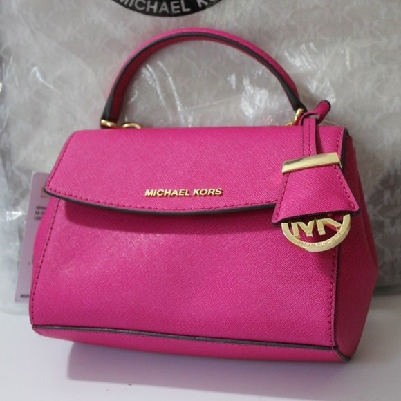 39537a6e9149 MICHAEL Michael Kors Bags   Michael Kors Raspberry Pink Mini Xs Ava ...